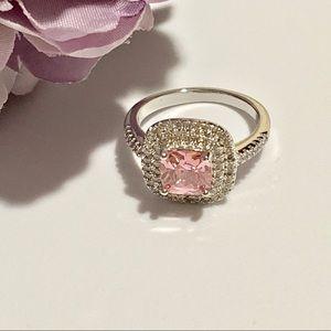 Jewelry - 925 & Rhodium Plated CZ Paved Ring